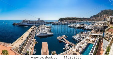 Panoramic View Of Monte Carlo, Monaco