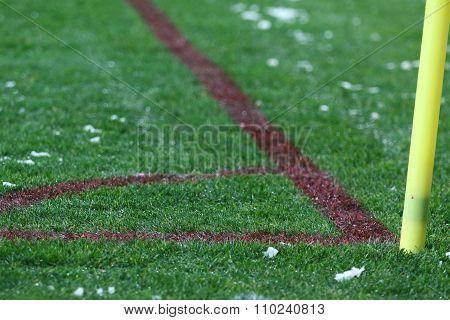 Corner Kick Of The Green Soccer Football Field