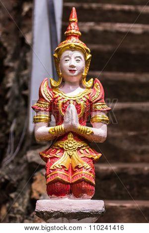 Thai Angel Statue In Temple