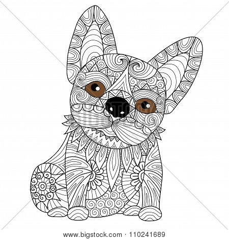 Bulldog Puppy Coloring Page