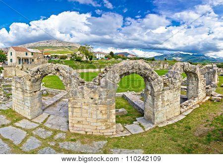 Historic Stone Amphitheatre In Ancient Solin