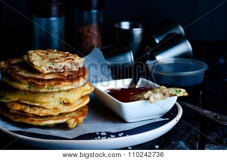 Tasty Pancakes Served In The Plate