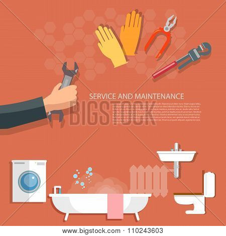 Plumbing Service Washing Machine Repair Pipeline Cleaning Hand Plumbing
