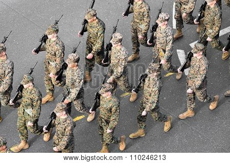 Us Marines Marching