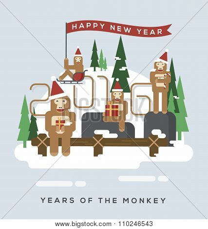 2016 Year Of The Monkey.