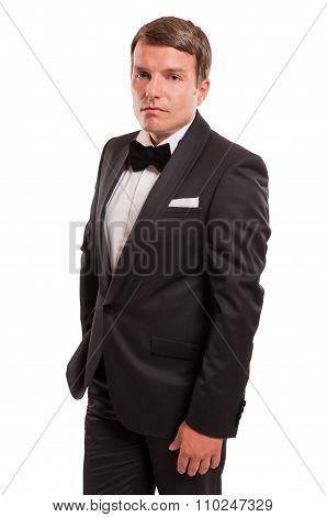 Confident Gentleman In A Photo Studio.