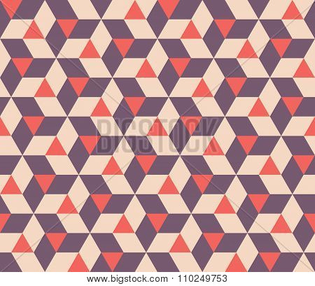 Vector Seamless  Abstract Geometric Triangle Rhombus Tiling Shapes Pattern