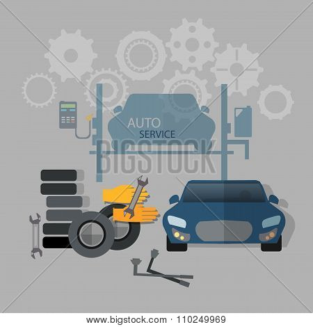 Auto Service Car Repair Tire Service Oil Change Gas Station