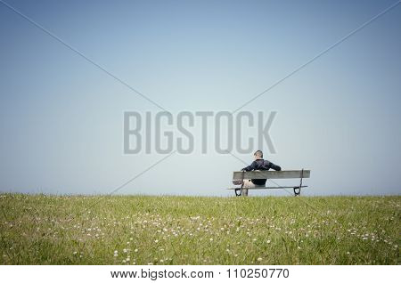 Man sitting on a bench-2