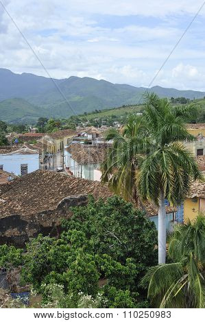 Trinidad, View of the city from the rooftops.