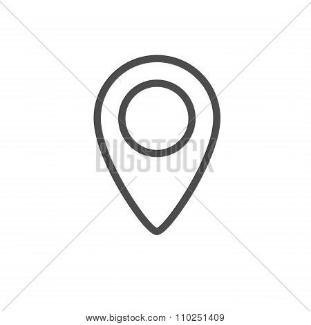 Map Location Sign, Marker Icon Isolated On White Background