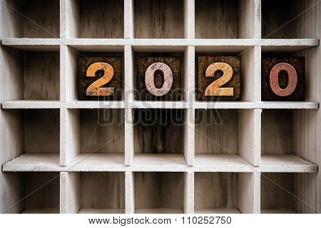 2020 Concept Wooden Letterpress Type In Draw