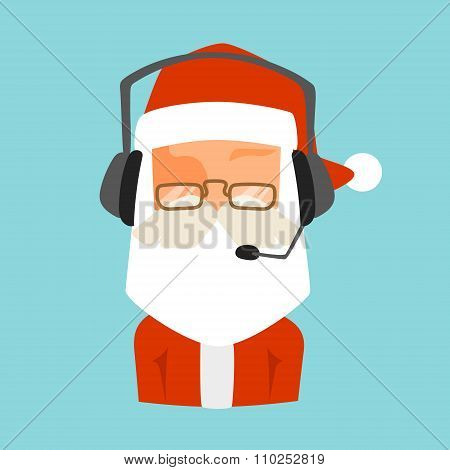 Christmas Santa shop support vector face avatar