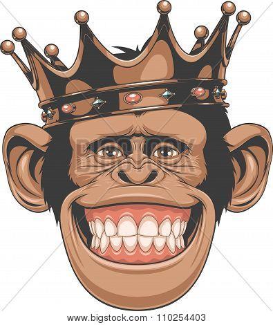 Funny monkey crown