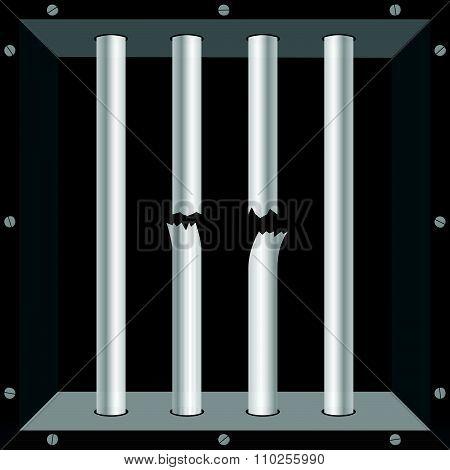 Prison Bars Metal Vector Illustration