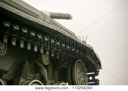Military Tank In The City
