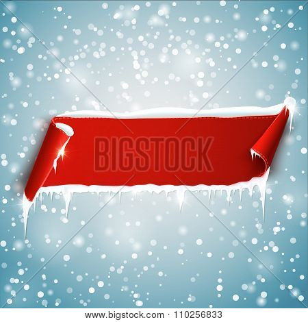 Empty Christmas Banner. Vector Background.