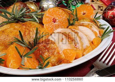 Baked Chicken In Tangerine Sauce