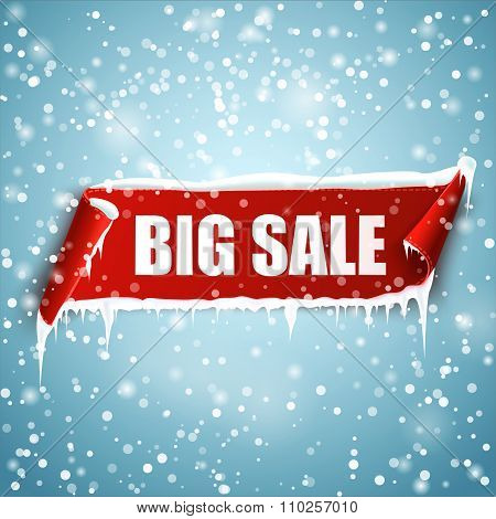 Big sale vector banner.