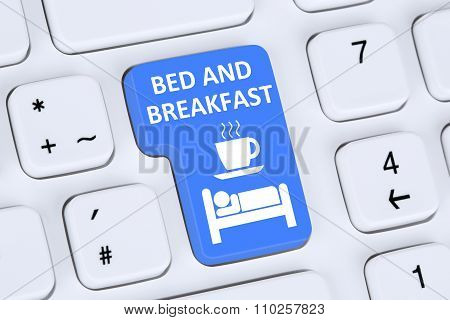 Bed And Breakfast Room Online Internet Booking B&b On Computer