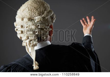 Barrister Making Speech In Court