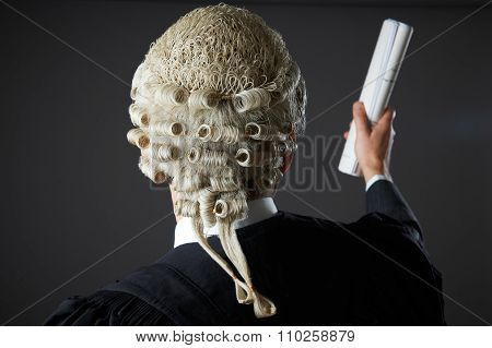 Lawyer Making Speech In Court