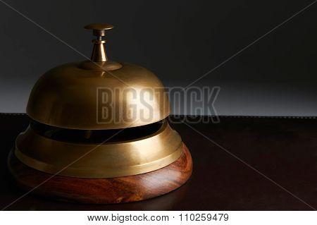 Reception Bell On Dark Background