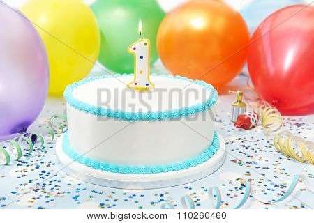 Cake Celebrating Child's First Birthday