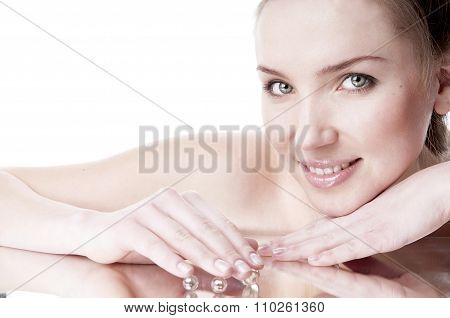 Woman With Groomed Clean Skin - Isolated On White.