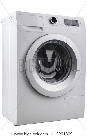Isolated Washing Machine On A White Background