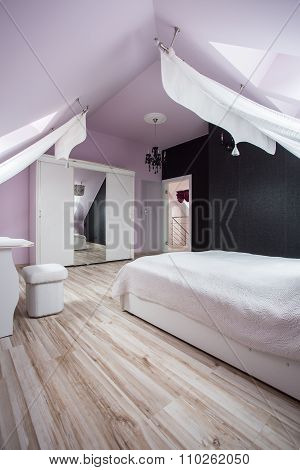 Fancy Bedroom With Large Bed