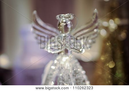 Decorative Glass Angel Christmas Decoration