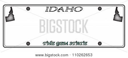 Idaho License Plate