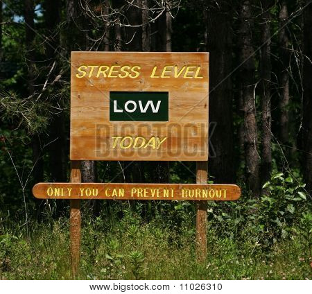 Stress Level Low Sign
