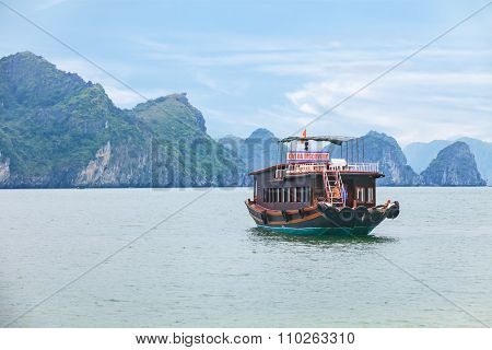 traditional asian boat cruise in Vietnam