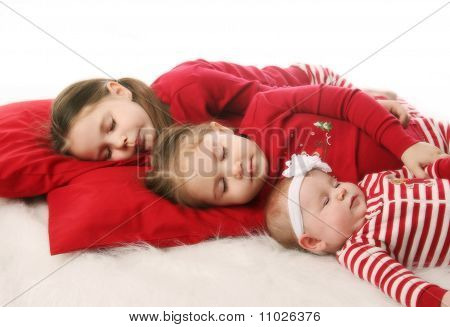 Sleeping Sisters Waiting For Christmas