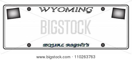 Wyoming License Plate