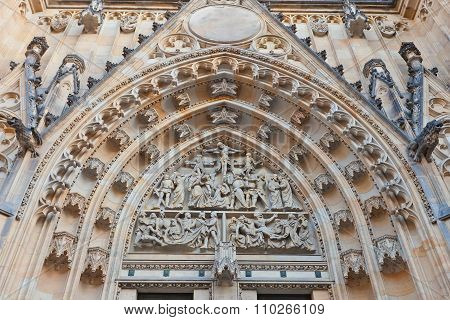 Tympanum Of St Vitus Cathedral In Prague