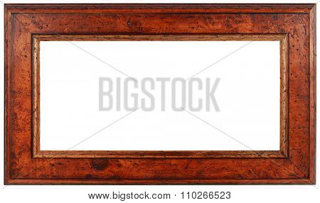 Empty Panoramic Wooden Picture Frame