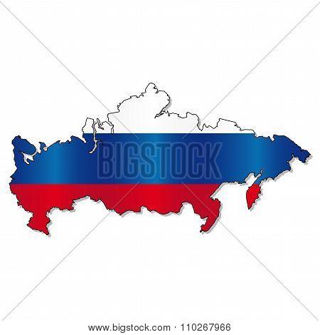 Russian flag map
