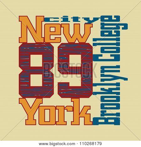 T-shirt New York Brooklyn