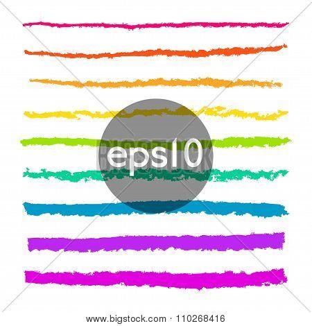 Set Of Pencil Stroke Brushes