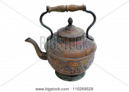 Ancient Copper Teapot