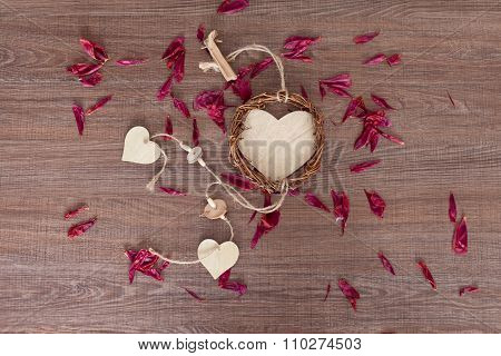 Wooden Heart For Valentine