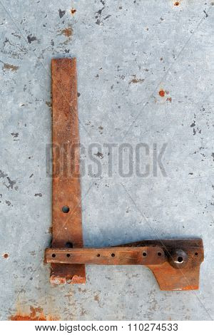 Rusty metal metallic single letters all alphabet