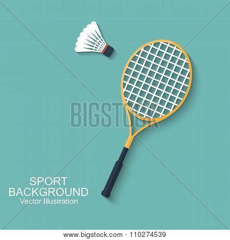 Badminton Racket And Shuttlecocks