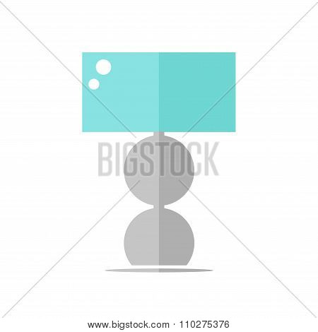Table lamp isolated icon on white background.