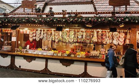 Candies and cookies Christmas stand