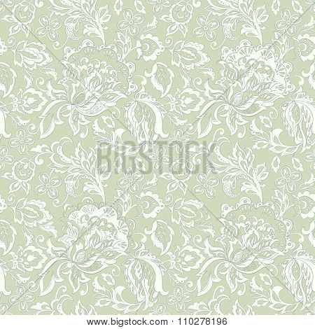 vintage floral seamles pattern. ethnic vector background