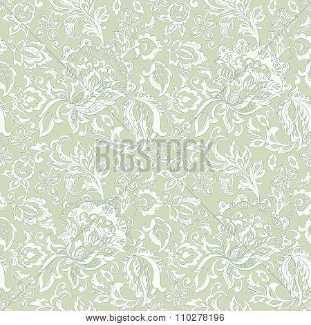 vintage floral seamles pattern. ethnic vector background